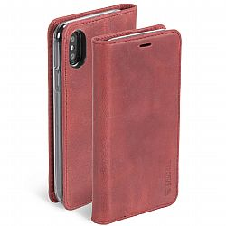 Krusell Sunne 4 Card FolioWallet for Apple iPhone X in Vintage Red